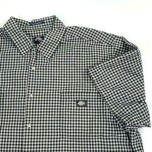 Dickies Work 3XL Mens Black White Check Shirt